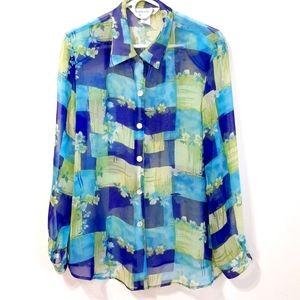 Draper's & Damon's floral print blouse petite